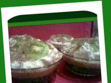 Zielono mi, czyli zielony deser z kiwi