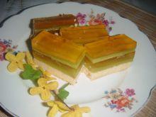 Zielono pomarańczowe ciasto z soków