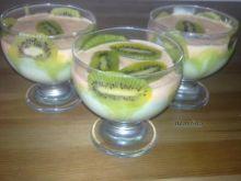 Zielono pomarańczowy deserek z Kiwi