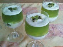 Zielony deser z kiwi