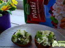 Zielony deser z płatkami ryżowymi i kiwi