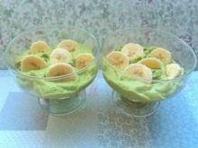 Zielony deserek z awokado i banana