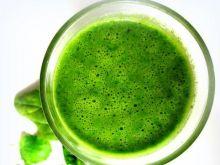Zielony koktajl ze szpinaku  z miętą