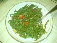zielony makaron-szpinakowy