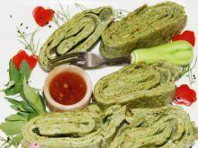 Zielony omlet rybny :