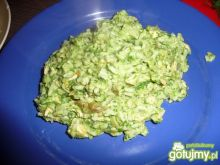Zielony ryż z łososiem
