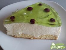 Zielony sernik na zimno