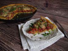 Ziemniaczana tarta z mięsem, papryką i pomidorami