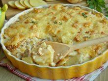 Ziemniaczana zapiekanka z kurkami i serem