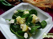 Ziemniaczano szpinakowa sałatka