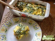 Ziemniaczany a'la omlet ze szpinakiem