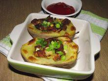 Ziemniaki faszerowane indykiem i pieczarkami