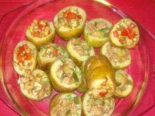 Ziemniaki nadziewane  mięsem mielonym ..