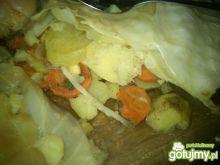 ziemniaki pieczone pod liściami Mariel
