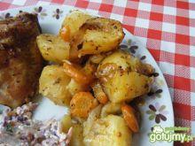 Ziemniaki pieczone razem z kurczakiem