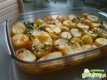 Ziemniaki pieczone z dynią w marynacie