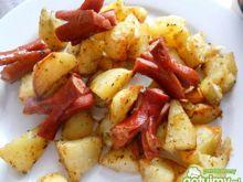 Ziemniaki pieczone z parówkami