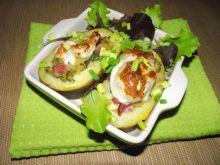 Ziemniaki pod mozzarellą faszerowane kapustą