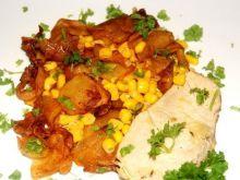 Ziemniaki z kukurydzą na ostro