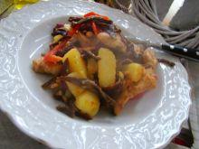 Ziemniaki z kurczakiem i grzybami mun