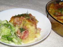 Ziemniaki z mozzarellą, czosnkiem i boczkiem