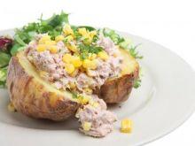 Ziemniaki z tuńczykiem i kukurydzą