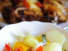 Ziemniaki z warzywami z rękawa