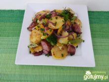Ziemniaki z woka z omletem