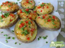 Ziemniaki zapiekane z  serowym farszem
