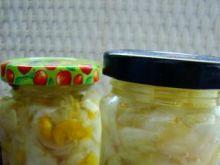Zimowa sałatka cukiniowo ogórkowa