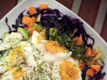 Zimowe warzywa z jajem