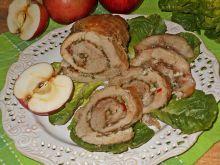 Ziołowa rolada z szynki z jabłkami