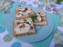 Ziołowe grzanki z serem mozzarella