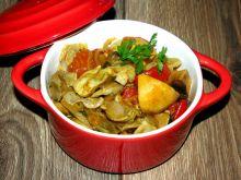 Żołądki curry z papryką,cebulą i pieczarkami