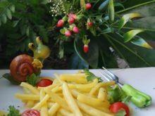 Żółta fasolka z zielonym chili