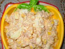 Żółta sałatka z tuńczykiem :