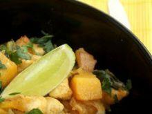 Żółte curry z dynią  Żółte curry z dyni