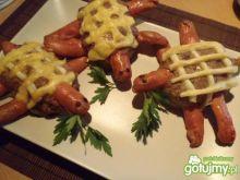 Żółwiki z mięsa mielonego i parówek