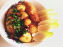Zrazy nadziewane warzywami rzodkiewką grzybami