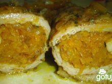 Zrazy wieprzowe z farszem marchewkowym