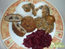 Zrazy z mięsa cielęcego z pieczarkami