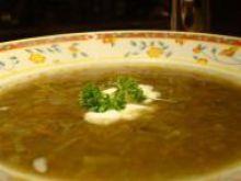 Zupa bez ziarenek i listków