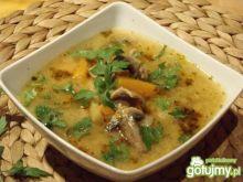 Zupa boczniakowo - pieczarkowa