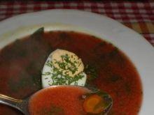 Zupa botwinkowa z jajkiem