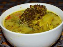 Zupa brokułowa z kaszą jęcznienną i ziemniakami