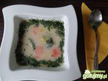 Zupa brokułowa z kaszą manną