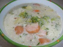 Zupa brokułowa z parowką