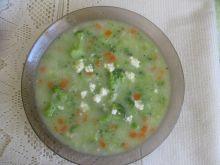Zupa brokułowa z ryżem i białym serem