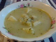 Zupa brokułowo - groszkowa