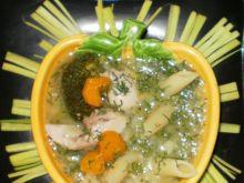 Zupa brokułowo-jarzynowa z makaronem :